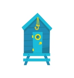 Blue Beach Cabin With Hook vector image