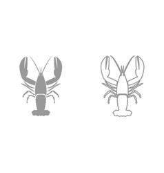 craw fish it is black icon vector image vector image