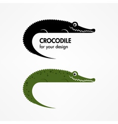 Crocodile icon vector