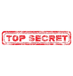 red grunge top secret vector image vector image