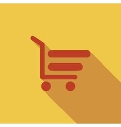 Shopping cart vector image