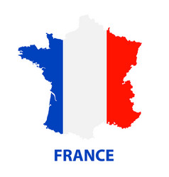 the detailed map of the france with flag vector image vector image