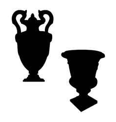 Victorian urn silhouettes vector