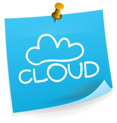 Cloud Technology Sticky Note vector image vector image