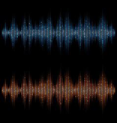 equalizer sound waves Music Digital Equalizer vector image