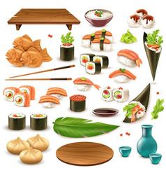 japanese food set vector image