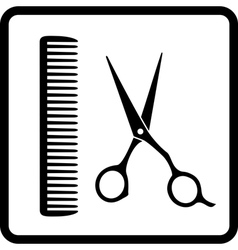 black sign of man hair salon vector image vector image