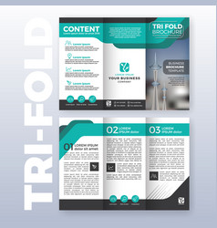 business tri fold brochure template design vector image