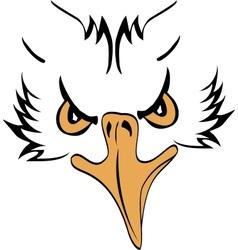 Eagle head profile vector