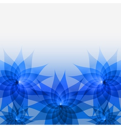 Abstract floral background with blue flowers vector image