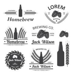 Beer brewery labels vector image