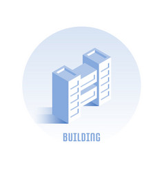 building icon vector image vector image