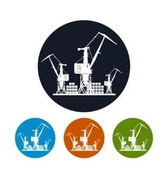 Cargo cranes iconlogistics icon vector image vector image