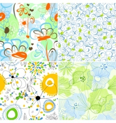 floral wallpapers vector image vector image
