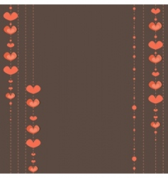 hearts background vector illustration vector image vector image