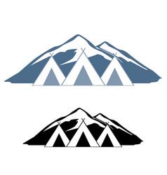 logos of wigwams vector image