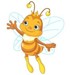 Queen bee showing vector image