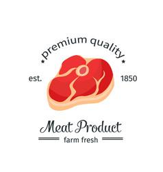 steak vintage emblem vector image vector image