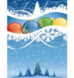 winter decorative vector image