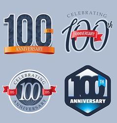100 years anniversary logo vector