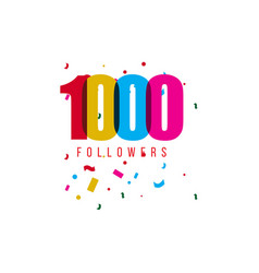 1000 followers template design vector image