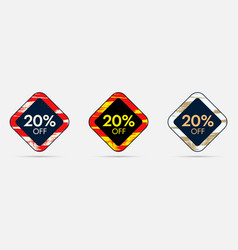 20 off discount sticker 20 off sale and discount vector