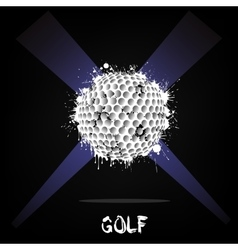 Abstract golf ball of ink blots vector