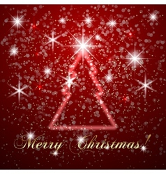 abstract Merry Christmas or New Year background vector image
