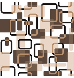 Abstract squares seamless vitage beige vector