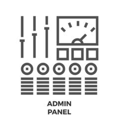 Admin Panel Line Icon vector