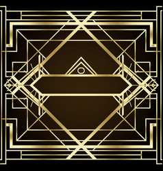art deco vintage patterns and design elements vector image