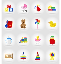 Baby flat icons 17 vector