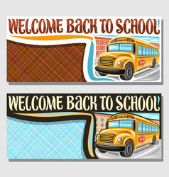 Banners for school bus vector