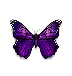 Beautiful deep purple detailed realistic magic vector