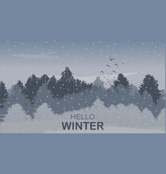 beautiful winter landscape background with winter vector image
