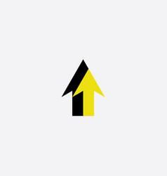 black yellow arrow logo symbol sign vector image