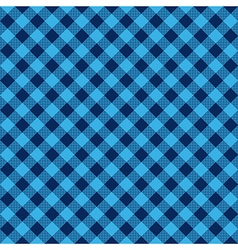 Blue check diagonal fabric texture seamless vector
