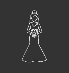 bride chalk icon vector image