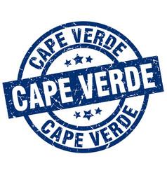 Cape verde blue round grunge stamp vector