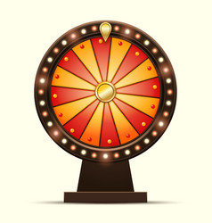 cartoon of a glowing wheel vector image