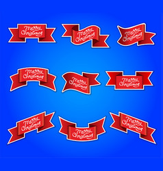 christmas advertising stickers vector image