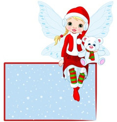 christmas fairy vector image