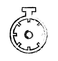 Chronometer sport watch timer competition sketch vector