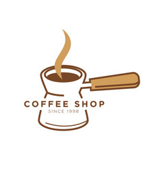 Coffee shop cafe icon template of turkish vector