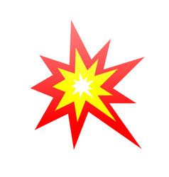 Collision symbol an angular burst orange and vector