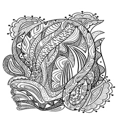 Coloring book adult vector image
