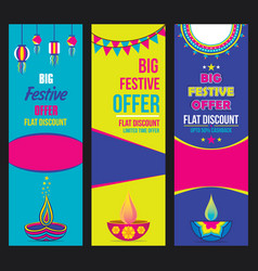 Creative big festive sale design vector