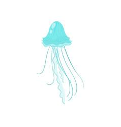cute sea colorful jellyfish swim in cold water vector image