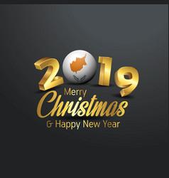 Cyprus flag 2019 merry christmas typography new vector