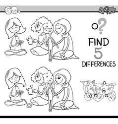 differences activity for coloring vector image